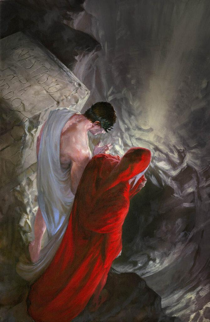 Inferno_Canto_11_Dante e Virgilio sulla cima della Ruina