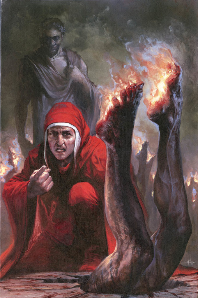 Inferno_Canto_19_Simoniaci_piedi in fiamme