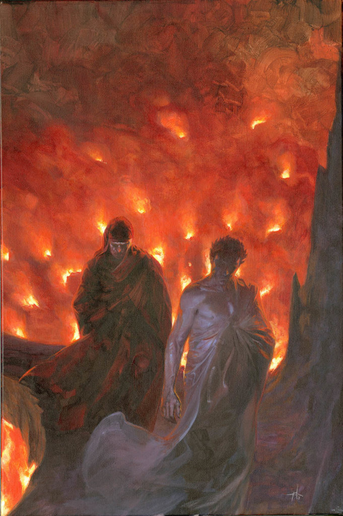 Inferno_Canto_27_Dante e Virgilio Fiamme spalle copia