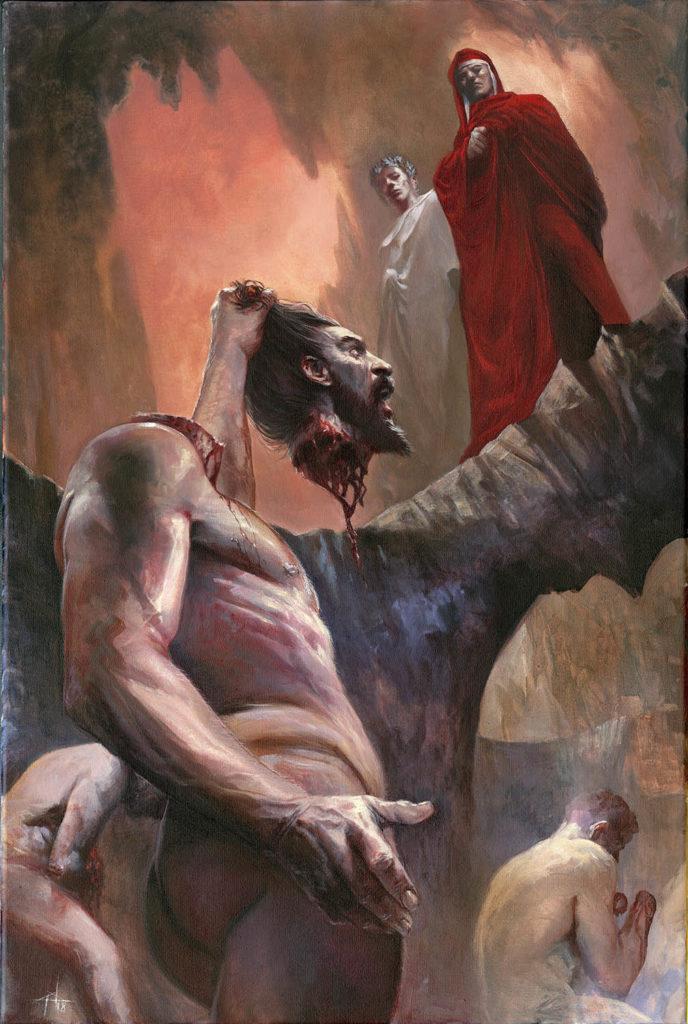 Inferno_Canto_28-Bertram con la testa in mano